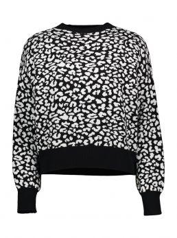 Maglia stampa leopardata