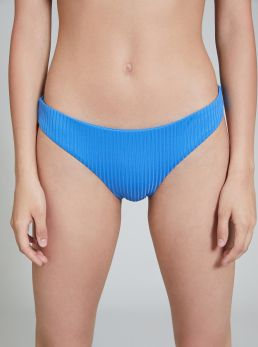 Slip bikini con righe a rilievo