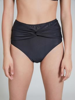 Slip bikini incrociato a vita alta