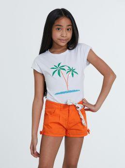 T-Shirt tropical con applicazioni