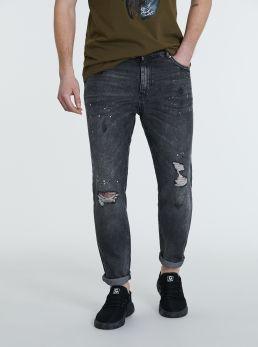 Jeans con strappi 5 tasche