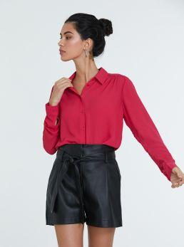 Camicia in tessuto semitrasparente