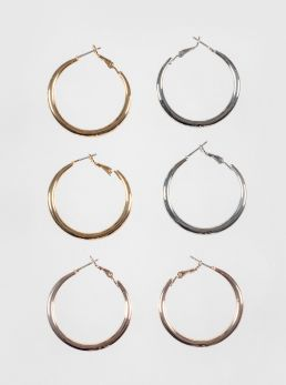 Set orecchini a cerchio in ferro