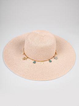 Cappello paglia falda larga