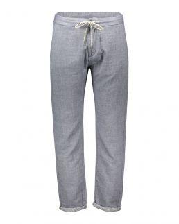 Pantaloni in cotone con laccio