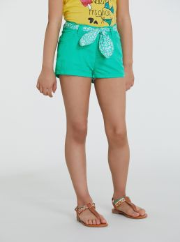 Shorts in cotone con cintura