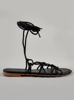 Sandalo con tomaia in corda