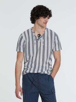 T-Shirt ecru misto lino