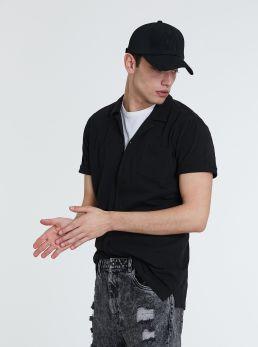 Camicia in cotone strutturato