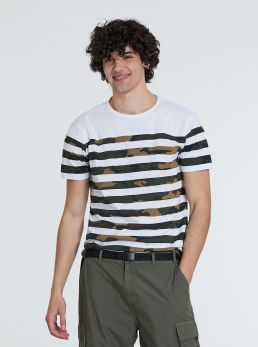 T-Shirt mimetica a righe