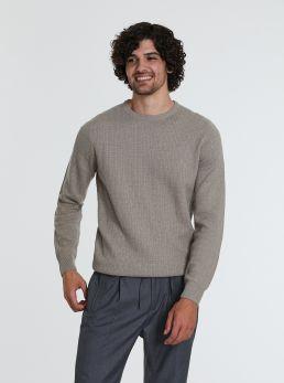 Pullover in cotone combinato