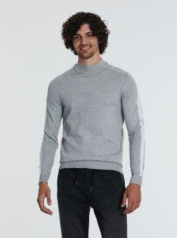Maglione con bande laterali