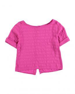 Camicia in cotone e lino
