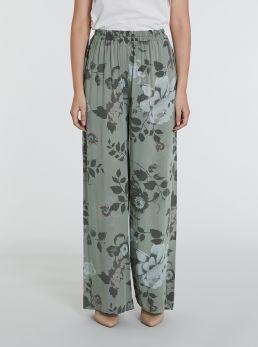 Pantaloni con stampe floreali