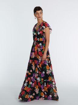 Vestito lungo flower
