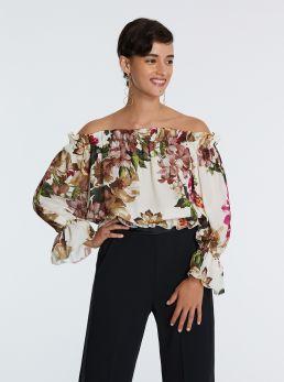 Casacca stampa floreale