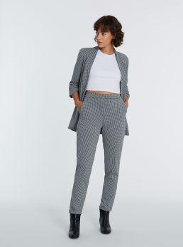 Pantaloni chino a quadri