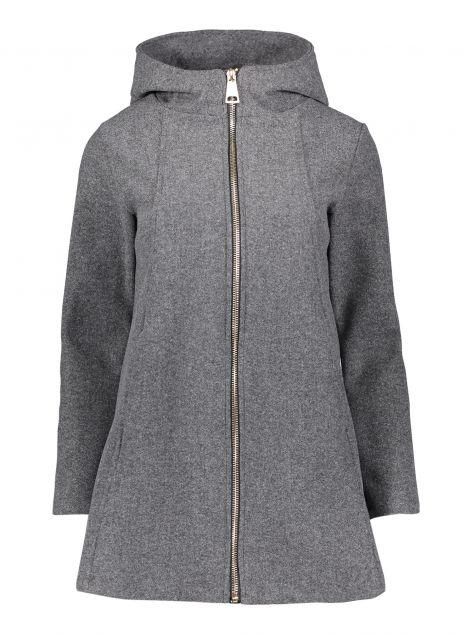 Cappotto con zip e cappuccio