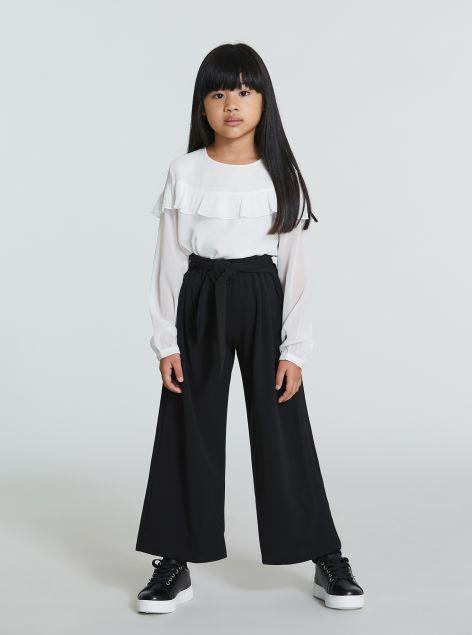 Pantaloni culotte con cintura
