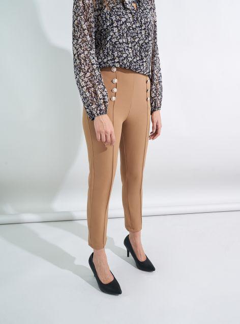 Pantaloni con bottoni a vista