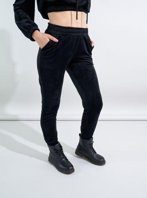 Pantaloni con coulisse in ciniglia