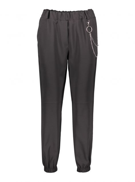Pantaloni con elastico e catena