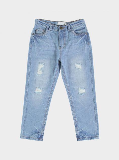 Jeans regular-fit con strappi