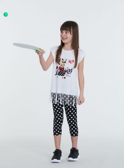 Completo t-shirt con frange e leggins