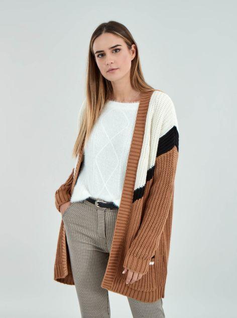 Cardigan effetto lana