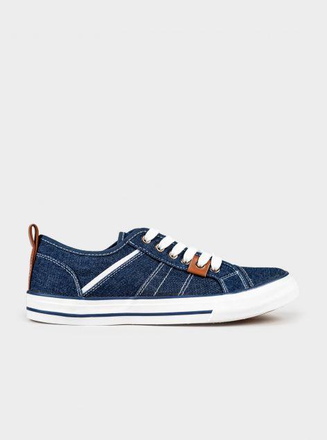 Sneakers effetto denim