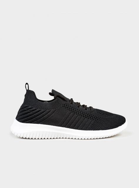 Sneakers in tessuto strutturato