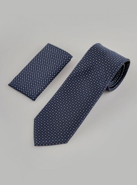 Cravatta con pochette