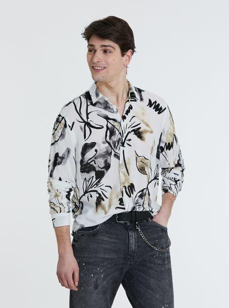 Camicia con motivi floreali