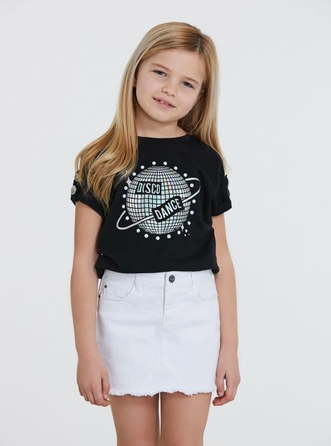 T-Shirt con stampa ed applicazioni