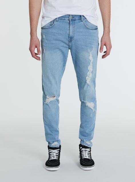 Jeans con strappi slim-fit