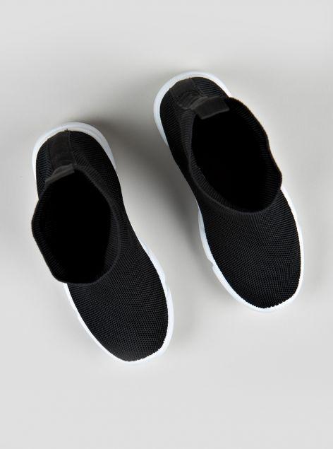 Sneaker alta a calzino