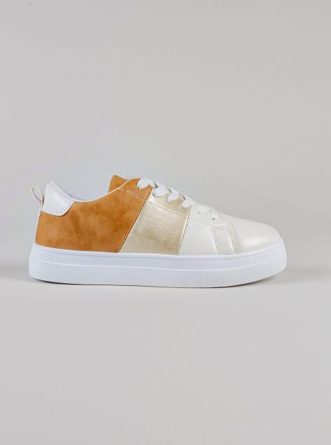 Sneakers da passeggio con plateau