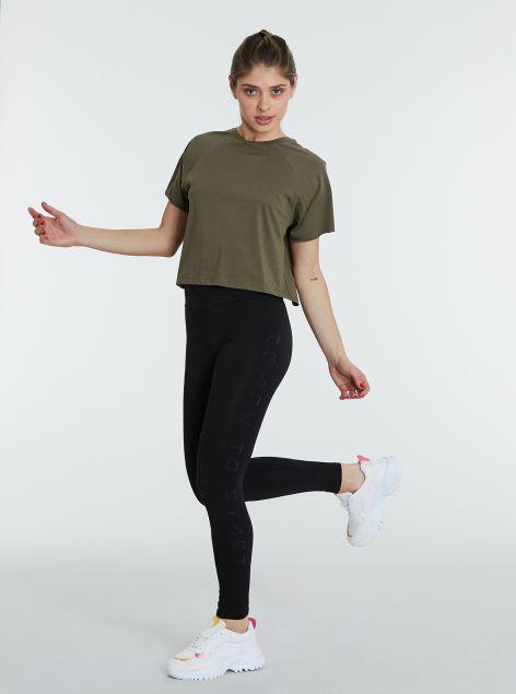 Leggings basic con bande laterali