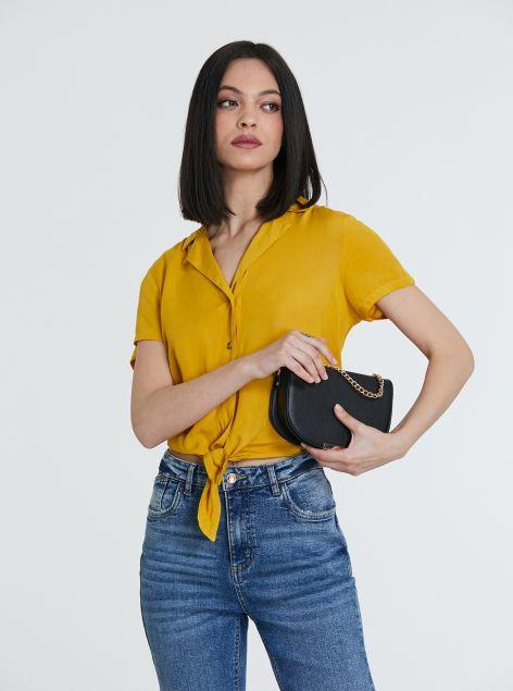 Camicia in tessuto leggero con nodo