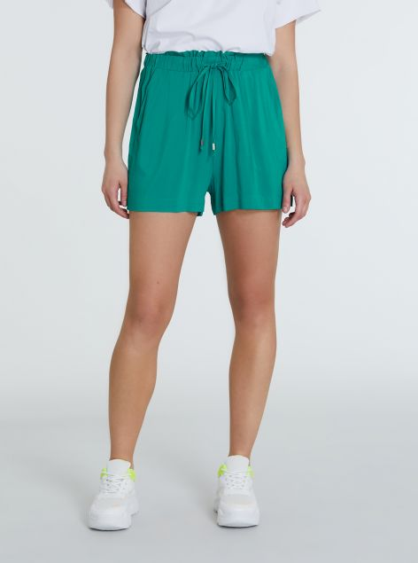 Shorts con elastico tessuto morbido
