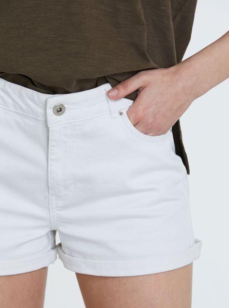 Shorts in cotone elastico