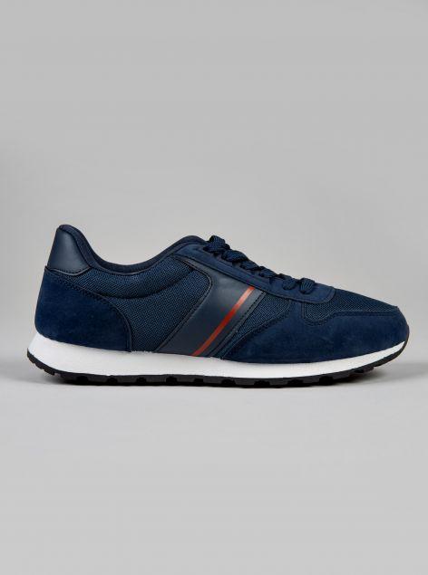 Sneakers con materiali combinati