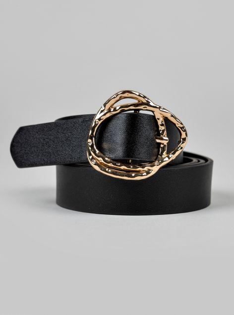 Cintura con fibbia cromata
