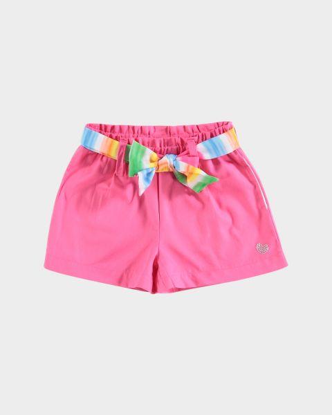 Shorts con fiocco in vita