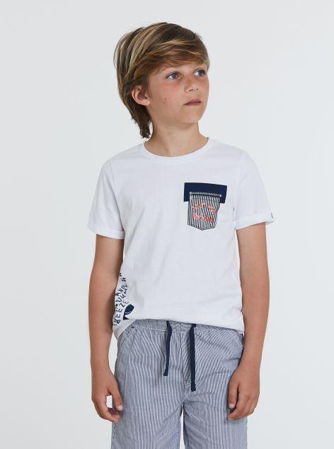 Completo t-shirt e bermuda a righe