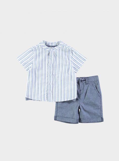 Completo neonato camicia e bermuda