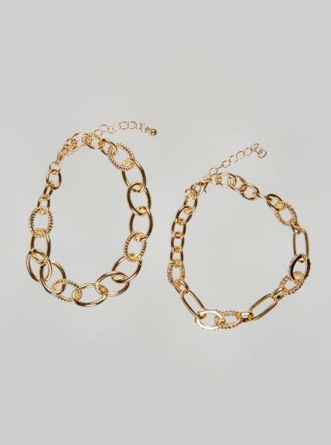 Set 2 bracciali effetto oro