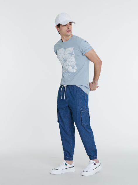 Pantaloni in denim cargo