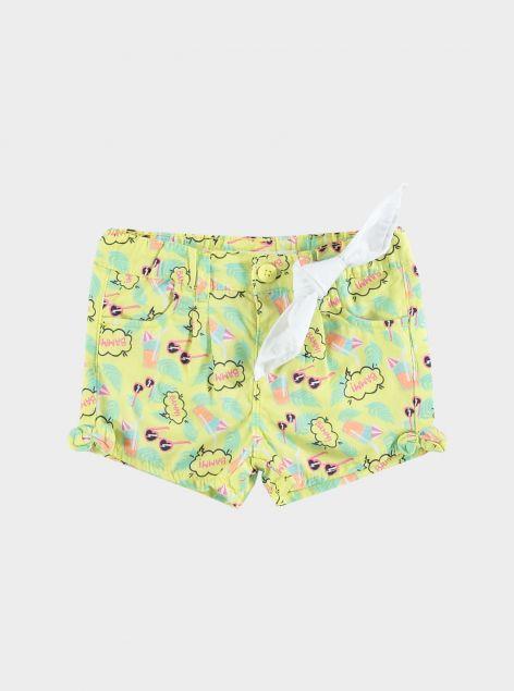 Shorts in cotone con stampe