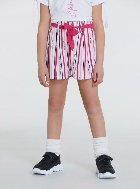 Shorts con fiocco e righe